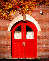 Fire Station Red Door